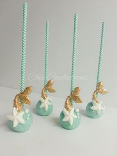 Under the sea themed cake pops Mermaid cake pops #ChicConfections #cakepops #themedcakes