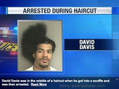 Funny Man Arrested During Haircut News Picture