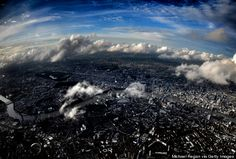 photo taken by pilot approaching Heathrow over Central London. from HuffPo 155313596
