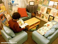 "Super comfy reading area shared by Walker Learning Approach: Personalised Learning ("",)"