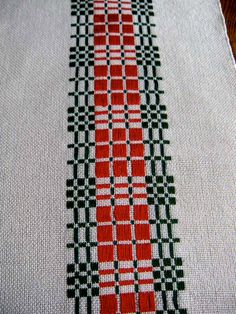 Table Runner Handwoven Traditional Swedish by ThistleRoseWeaving, $75.00