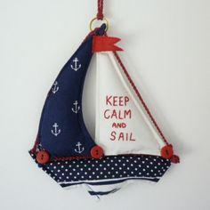 Hand made fabric sailing boat