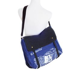 Vintage Camera Pattern Large Crossbody Bag