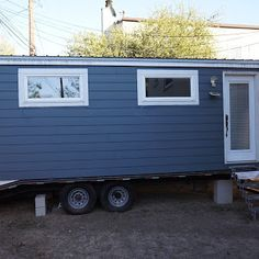 Scarlett a 233 sq ft tiny house from the Tumbleweed Tiny House Company. Available for rent at the Mt. Hood Village Resort.