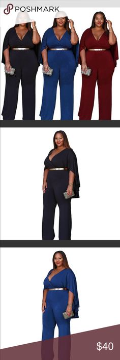 a71a21c2208 591947 Plus Size Cloaked Short Sleeve Jumpsuit https   www.tripleclicks.com