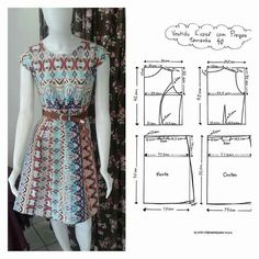 Sewing tutorials clothes women easy dress ideas for 2019 Long Dress Patterns, Dress Sewing Patterns, Blouse Patterns, Clothing Patterns, Sewing Clothes Women, Diy Clothes, Clothes For Women, Dress Clothes, Sewing Blouses