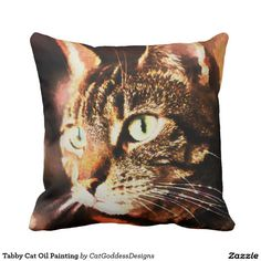Rest your head on one of Zazzle's Cushions decorative & custom throw pillows. Home Look, Store Design, Cat Art, Decorating Your Home, Decorative Pillows, Kitty, Oil, Throw Pillows, Cats