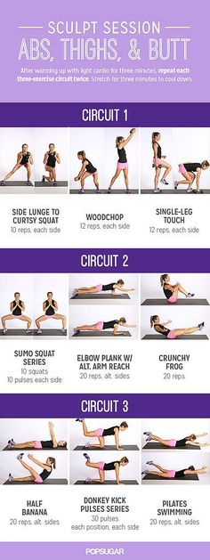 Printable Workout: Sculpt Session For Abs and Butt