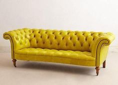 Yellow Leather Chesterfield Sofa, Yellow Leather Chesterfield Sofa ...