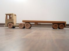 Flavia the flat bed wood truck  a waldorf wooden toy by TrickTruck