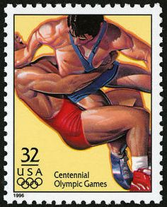 History dictates that there should definitely be an Olympic wrestling stamp.  Wrestling is one of the oldest human sports, and was featured during the Olympic Games in ancient Greece, over 2700 years ago.