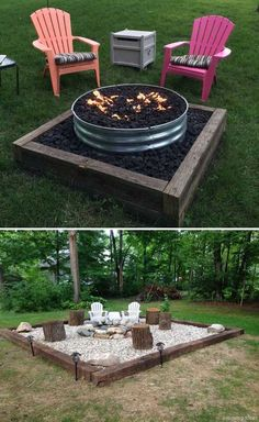 Nice 87 DIY Backyard Fire Pits Design Ideas https://roomaniac.com/87-diy-backyard-fire-pits-design-ideas/