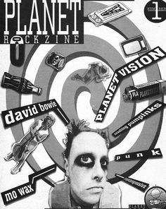 Planet Rockzine n.1, 1997 Grafica Ale Pop David Bowie, Punk, Fictional Characters, Art, David Bowie Band, Craft Art, Kunst, Gcse Art, Punk Rock