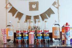 Set up a stylish Italian soda bar with a variety of fruity flavors. Don't forget the whipped cream!