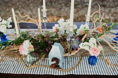table decor with nautical touches | Faith Teasley #wedding