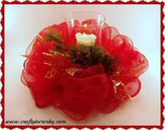 Deco Mesh Centerpiece Tutorial by Crafty In Crosby