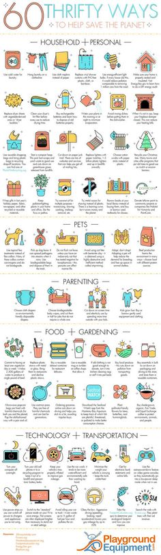 60 thrifty ways to help save the planet. - Imgur