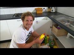 DIY kitchen sink storage - YouTube