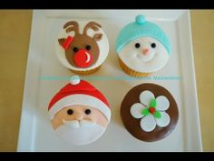 ▶ Christmas Cupcakes Set - Cupcake Tutorial & How to on my channel - YouTube