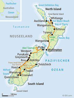 neuseeland karte im neuseeland reisef hrer http www. Black Bedroom Furniture Sets. Home Design Ideas