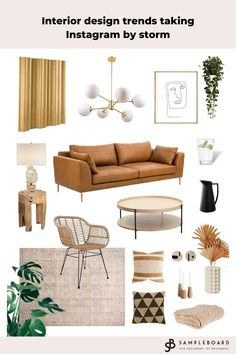 Interior trends taking Instagram by storm Mood Board Interior, Interior Design Boards, Moodboard Interior Design, Living Room Trends, Living Room Colors, Round Sofa, Apartment Makeover, Traditional Decor, Home Decor Trends