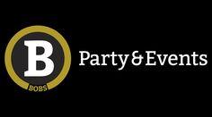 WOKKE Vormgeving & Communicatie | Bobs #Party & #Events #logo #black #gold #white #design #Dutch #brand