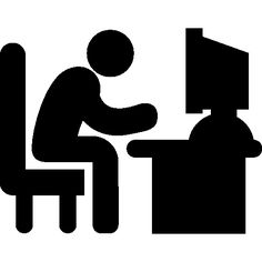 Man sitting, Free icon and Office desks on Pinterest