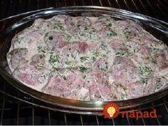 Georgian meat, bake for 1 hour - Georgian Cuisine, Georgian Food, No Salt Recipes, Pork Recipes, Cooking Recipes, Armenian Recipes, Russian Recipes, How To Cook Pork, Pork Tenderloin Recipes
