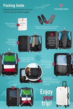 Our favorite packing tips #Victorinox #spring #colors #infographic #packing
