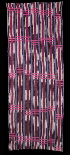 Africa | Ikat textile from the Yoruba people of Nigeria.  Cotton and silk.  ca. 1970 | © Museum der Kulturen, Basel