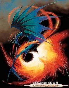 Dragon and Phoenix__Ave Fenix Volando