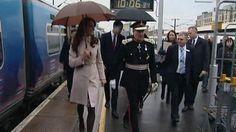 The Duke and Duchess of Cambridge arrive at Cambridge railway station Photo: ITV Anglia