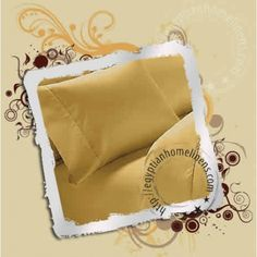 8 inches Deep Fitted Sheet Egyptian Cotton Solid Gold