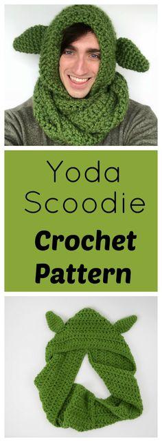 Free Crochet Yoda Scoodie Pattern