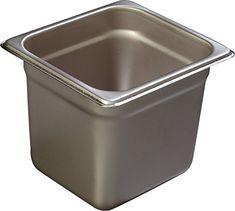 Carlisle 608166 DuraPan Heavy 22-Gauge 18-8 Stainless Steel Sixth-Size Food Pan, 3.9 qt. Capacity, 6-7/8 x 6-1/4 x 6