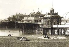 Archive photo of the West Pier, Brighton circa 1931, the pier was built in 1866 by Eugenius Birch
