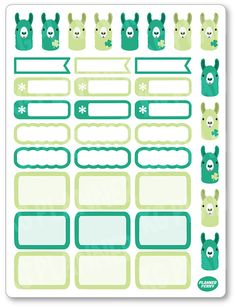 MAR Llama of the Month Planner Stickers for Erin by PlannerPenny