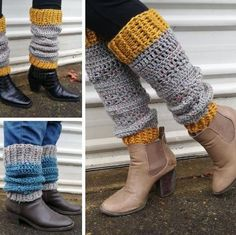 Heartland Boot Cuffs by Fiona Langtry (PDF pattern only)