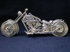 Pymes, bicicletas artesanales. - Hazlo tú mismo en Taringa! Mini Bike, Wire Art, Wire Jewelry, Craftsman, Cufflinks, Miniatures, Sculpture, Animal, Handmade