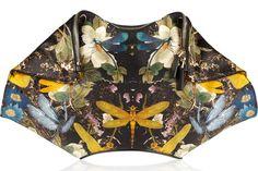 Alexander McQueen - Multicolor The De Manta Printed Silk-satin Clutch - Lyst Alexander Mcqueen Handbags, Clutches For Women, Designer Clutch, Designer Bags, Women Wear, My Style, Girl Style, How To Wear, Fashion Design