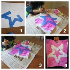 Stars {Preschool Shapes}I would let children create their own picture!