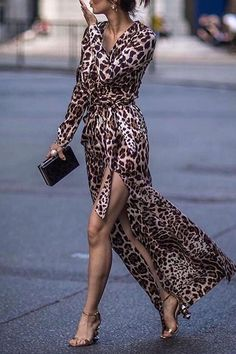 SPECIFICATIONS: Product Name Sexy Leopard Print Side Vented Long Sleeve Maxi Dresses maxi dress summer,maxi dress outfit,maxi dress casual, Sexy Maxi Dress, Maxi Dress With Sleeves, Boho Dress, Sexy Dresses, Dress Long, Casual Dresses, Sheath Dress, Floral Dresses, Long Sleeve Dresses