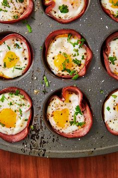 Ham And Cheese Egg Cups - Breakfast Recipes Low Carb Breakfast Easy, Breakfast Recipes, Breakfast Ideas, Breakfast Club, Brunch Recipes, Low Carb Waffles, Healthy Pumpkin, Ham And Cheese, Meal Prep