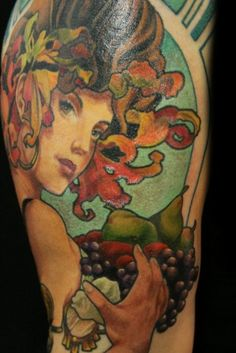 Art Nouveau Tattoo - Beautiful Color