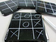 Fusing Ideas O's & X's Fused Glass Coasters from www.makethemostof.co.uk