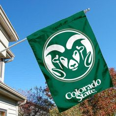 Colorado State University Rams House Flag by College Flags and Banners Co.. $23.95. Colorado State University Rams House Flag is 30x40 inches in size, is made of single-ply polyester with double-sided bottom school panel, has a top sleeve for insertion of a wood or aluminum flagpole, and the Licensed NCAA School logos are screen printed into this Colorado State University Rams House Flag.