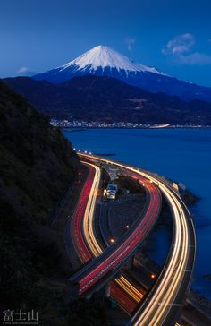 Mount Fuji in a blue time - Shizuoka, Japan