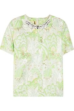 Marni|Embellished jacquard top|NET-A-PORTER.COM