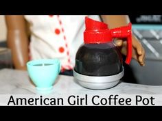 DIY American Girl Doll Coffee Pot How to make an American Girl Diner Comida American Girl, American Girl Food, American Girl House, American Girl Crafts, American Girl Clothes, American Diner, Ag Doll Crafts, Diy Doll, American Girl Accessories