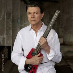 David Bowie and his Steinberger
